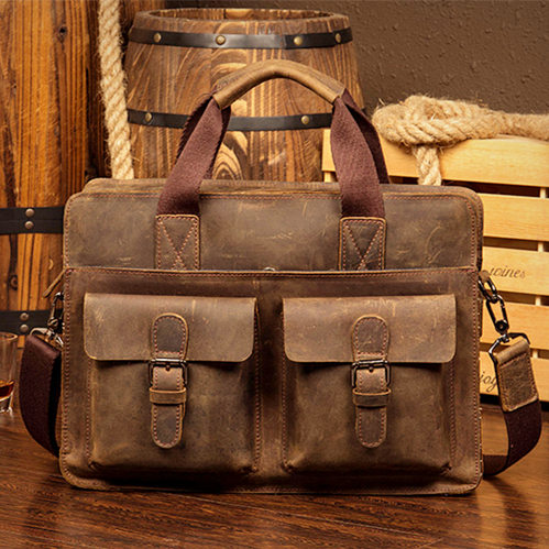 handmade leather bags for men