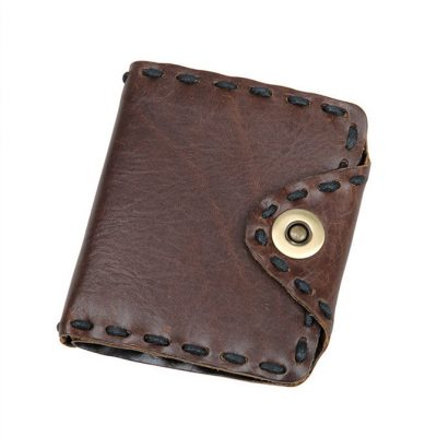 Handmade Leather Wallet Pocket Purse