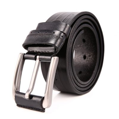 Black Classic Leather Belt