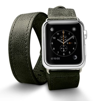 Black Double Tour Apple Watch Band 38mm 42mm