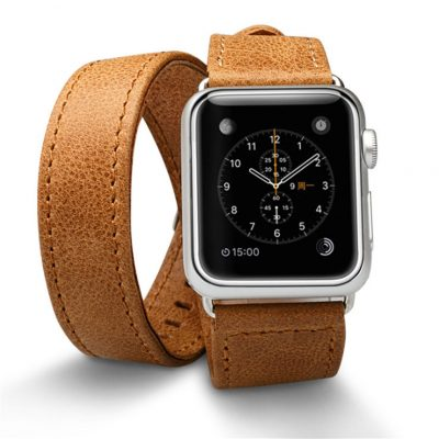 Brown Double Tour Apple Watch Band 38mm 42mm