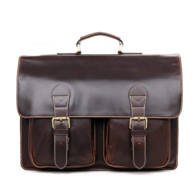 Business Leather Messenger Bag