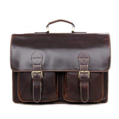 Business Leather Messenger Bag