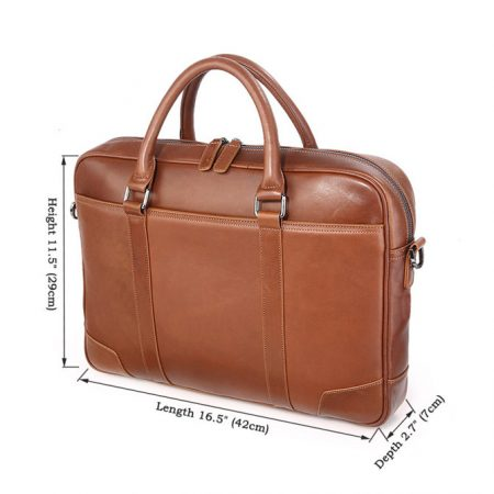 Classic Business Leather Briefcase-Size
