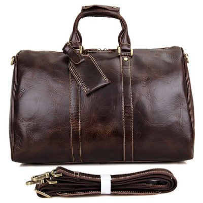 Classic Leather Duffle Bag