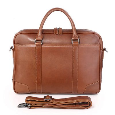 Classic business leather briefcase