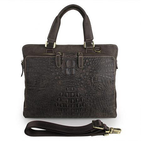 Crocodile Embossed Laptop Bag