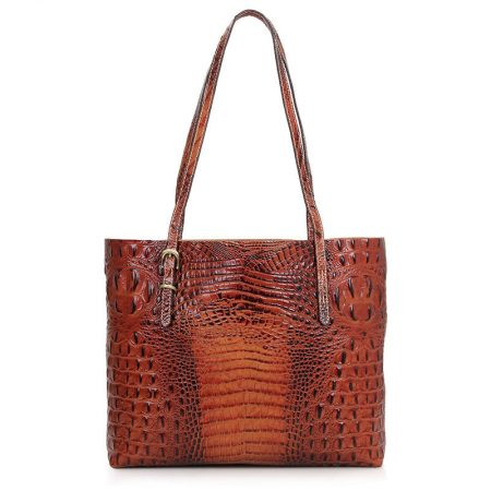 Crocodile Pattern Leather Tote