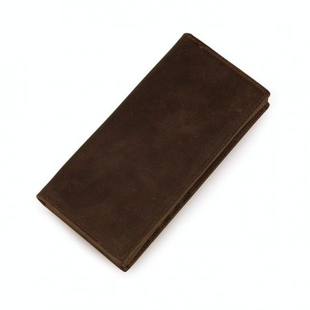 Dark Brown Leather Wallet Card Holder Wallet