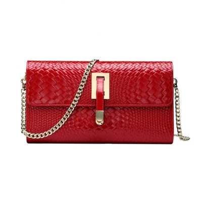 Fashion Leather Crossbody Clutch