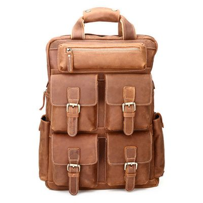 Fashion outdoor Leather Backpack