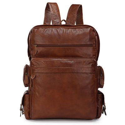 Hiking Vintage Leather Backpack