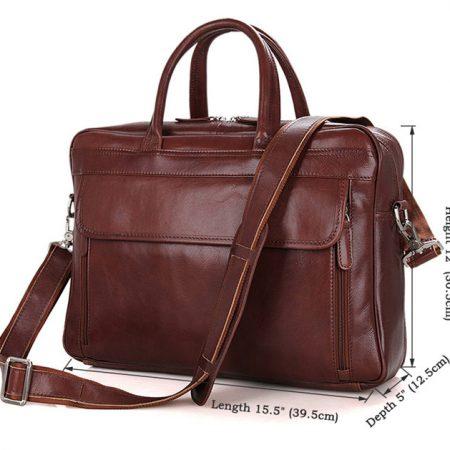 Leather Laptop Bag For Men-Size