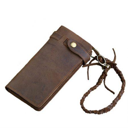 Leather Biker Wallet Card Holder Purse