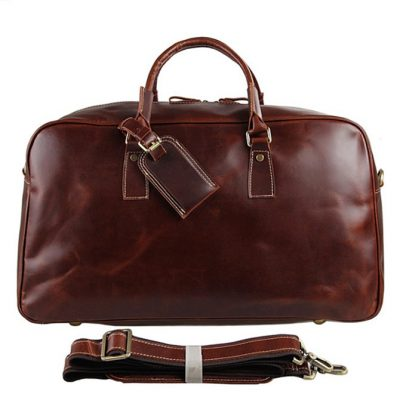 Leather Travel Duffle Bag Luggage Bag