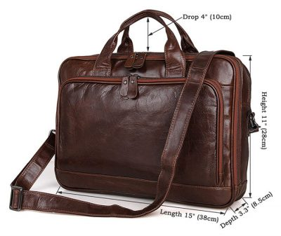 Noble Leather Laptop Bag-Size