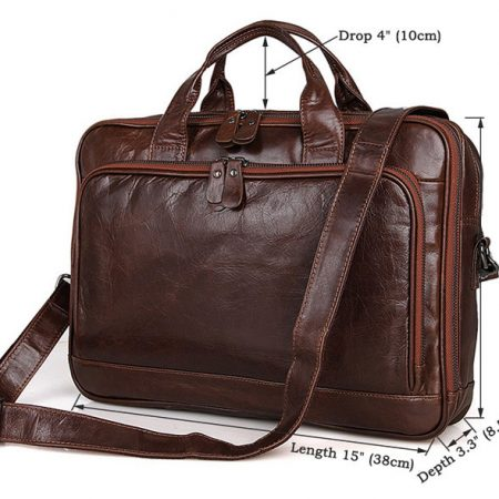 Noble Leather Laptop Bag-Size
