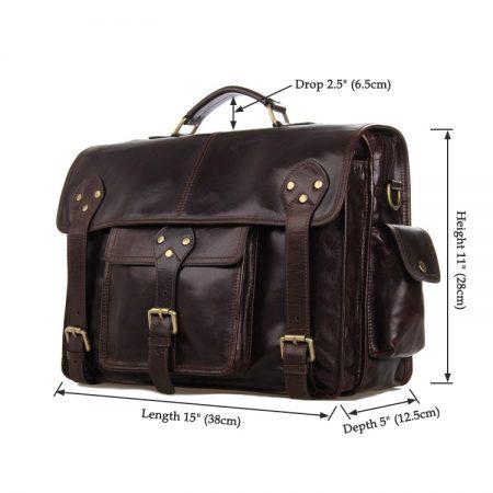 Noble Leather Messenger Bag-Size