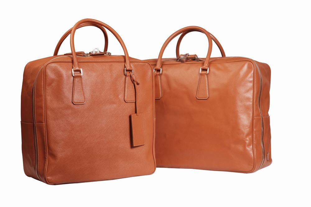 Practical large leather bags