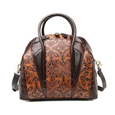 Shell Type Leather Handbag