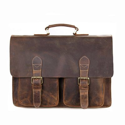 Style Mens Leather Messenger Bag Briefcase Laptop Bag