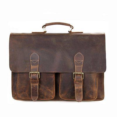 Style Mens Leather Messenger Bag Briefcase Laptop Bag