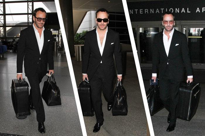 Tom Ford Fashion Leather Duffle Bag