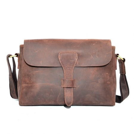 Top Quality Hard Leather Satchel For Lady