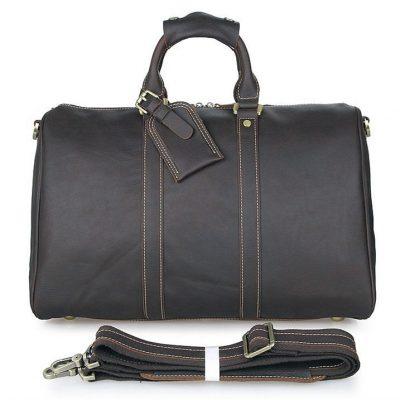 Leather Duffle Bag Weekend Bag