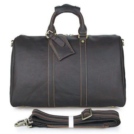Unisex Leather Duffle Bag