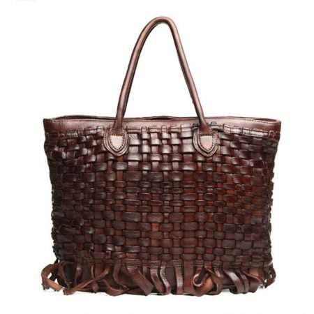 Vegetable Tanned Leather Handbag