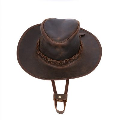 Vintage Leather Cowboy Hat