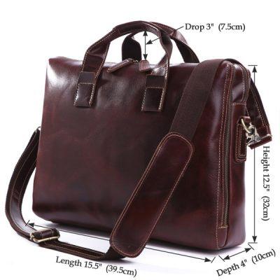 Vintage Leather Laptop Bag-Size