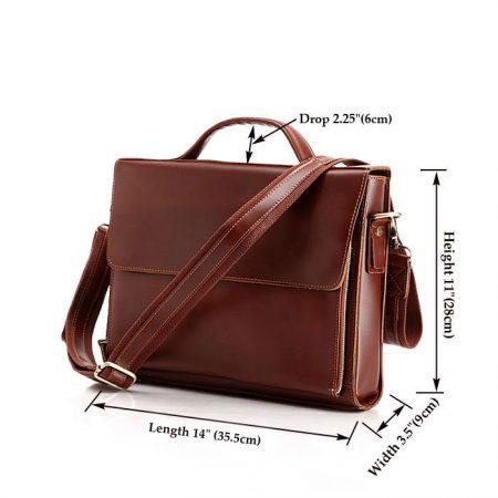 excellent leather messenger bag-size