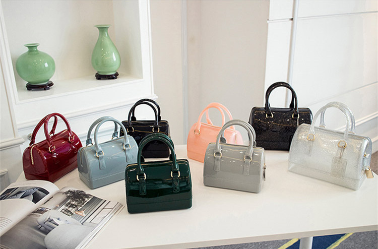 Candy color leather handbags