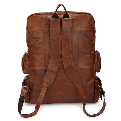 Casual Leather Travel Backpack-Back