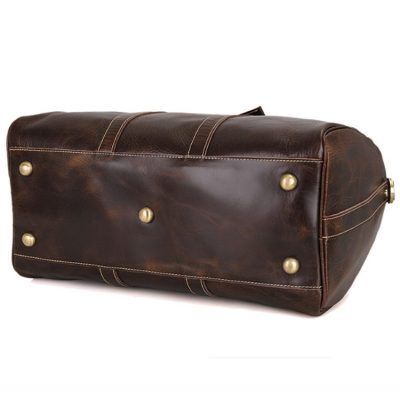 Classic Leather Duffle Bag-Bottom