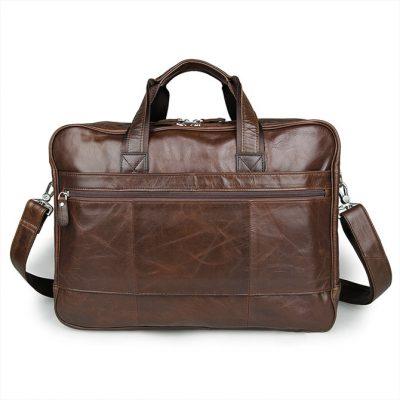 Fashion Leather Laptop Bag-Back