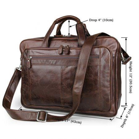 Fashion Leather Laptop Bag-Size