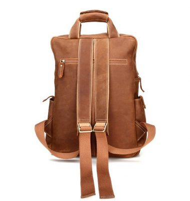 Fashion outdoor Leather Backpack-Back
