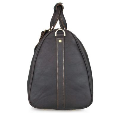 Leather Duffle Bag Weekend Bag-Side