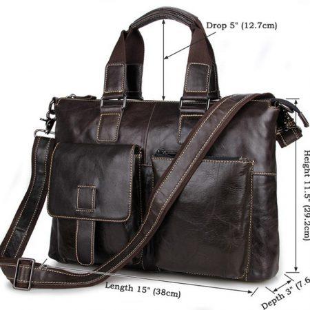 Men and Womens Laptop Messenger Bag-Size