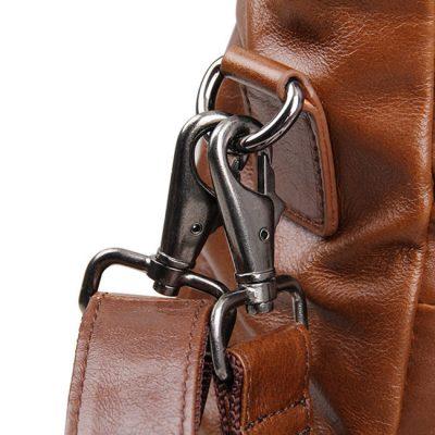Unisex Leather Briefcase Laptop Bag-Details