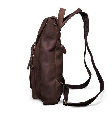 Vintage Genuine Leather Backpack-Side