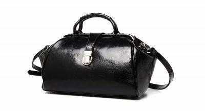 Black Designer Genuine Leather Handbag-Left