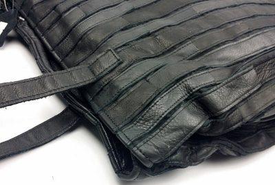 Black Mosaic Leather Handbag-Details