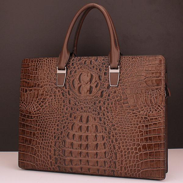 Brucegao men's classic crocodile leather bag