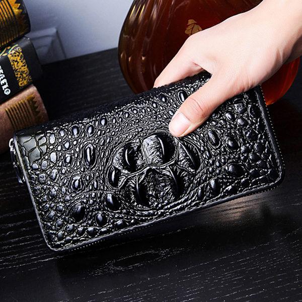 Brucegao men's crocodile leather purses