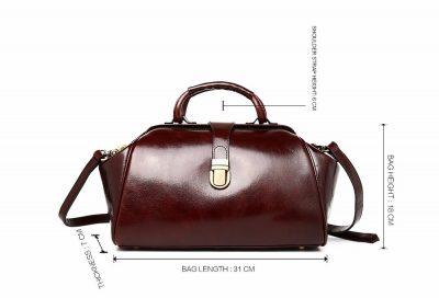 Designer Genuine Leather Handbag-Size