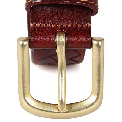 Durable Men's Leather Belt-details